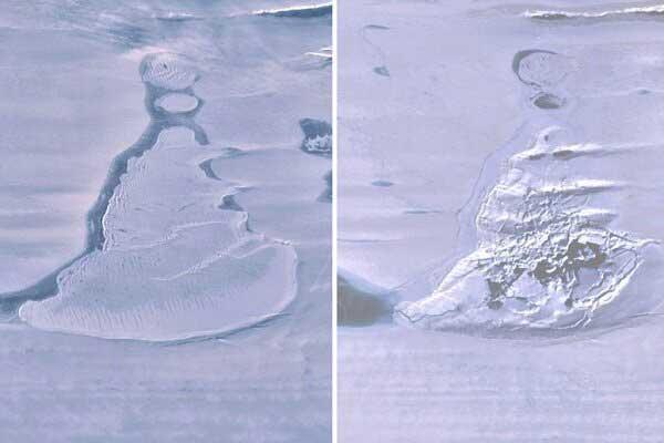 گرمایش زمین دریاچه یخی قطب جنوب را از بین برد